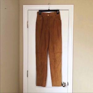 Vintage Escada Suede Equestrian Style Pants